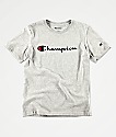 Champion Boys Heritage Oxford Grey T-Shirt