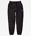 Champion Boys Small C Black Fleece Jogger Sweatpants