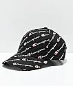 Champion Classic Twill Black Logo Script Strapback Hat