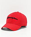 Champion Classic Twill Scarlet & Black Strapback Hat