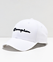 Champion Classic Twill White & Navy Script Strapback Hat