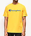 Champion Embroidered Heritage Script Gold T-Shirt