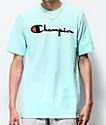 Champion Flock Script Waterfall camiseta menta