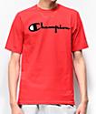 Champion Flock Script camiseta roja