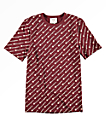 Champion Heritage All Over Script Maroon T-Shirt