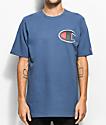 Champion Heritage Big C Patch Blue T-Shirt