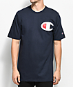 Champion Heritage Big C Patch Navy T-Shirt