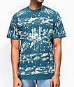Champion Heritage C Bleach Splatter Green T-Shirt
