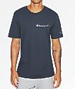 Champion Heritage Embroidered Script camiseta en azul marino