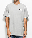 Champion Heritage Embroidered Script camiseta gris