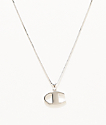 Champion Heritage Logo Silver Pendant Necklace