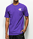 Champion Heritage Patriotic C Purple T-Shirt