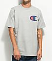 Champion Heritage camiseta gris con parche C