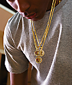 Champion Heritage collar de medallón de oro