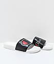 Champion IPO Black & White Slide Sandals