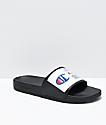 Champion IPO Jock Black & White Slide Sandals