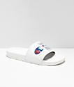 Champion IPO Jock White Slide Sandals