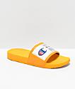 Champion IPO Jock Yellow & White Slide Sandals