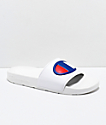 Champion IPO White Slide Sandals