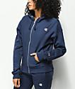 Champion Imperial Reverse Weave sudadera con capucha y cremallera en azul marino