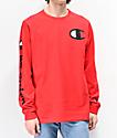 Champion Large C camiseta roja de manga larga
