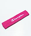 Champion Logo diadema rosa de rizo