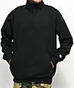 Champion Powerblend Quarter Zip Black Fleece Sweatshirt