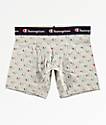Champion Printed C Logo Grey Boxer Briefs
