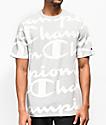 Champion Printed Heritage Script Grey T-Shirt