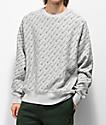 Champion Reverse Weave All Over Print sudadera gris con cuello redondo