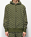 Champion Reverse Weave All Over Print sudadera verde
