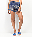 Champion Reverse Weave All-Over Script Navy Shorts
