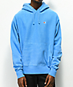 Champion Reverse Weave Blue Pigment Dyed Hoodie