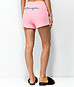 Champion Reverse Weave Embroidered Pink Shorts