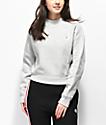 Champion Reverse Weave Grey Mock Neck Crop Sweatshirt