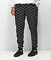 Champion Reverse Weave Print Black Jogger Sweatpants