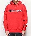 Champion Reverse Weave Red Chainstitch Hoodie