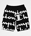 Champion Reverse Weave Script Black Sweat Shorts