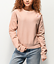 Champion Reverse Weave Tinted Tan Crew Neck Sweatshirt