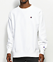 Champion Reverse Weave White Crew Neck Sweatshirt