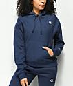 Champion Reverse Weave sudadera azul marino con capucha