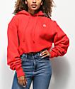 Champion Reverse Weave sudadera corta con capucha roja
