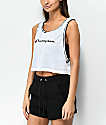 Champion Reversible White Mesh Crop Tank Top
