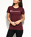 Champion Script Burgundy T-Shirt