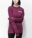 Champion Script Dark Purple Long Sleeve T-Shirt