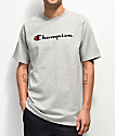 Champion Script Heather Grey T-Shirt