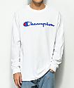 Champion Script Logo camiseta blanca de manga larga