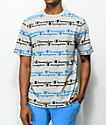 Champion Script Stripe Athletic Grey T-Shirt