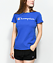 Champion Script camiseta en azul real