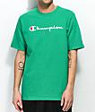 Champion Script camiseta verde